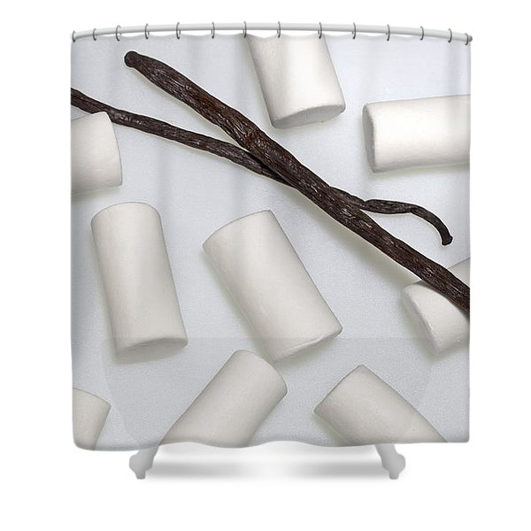 Organic Marshmallows With Vanilla Shower Curtain