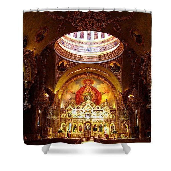 Orthodox Church In Los Angeles, California Shower Curtain