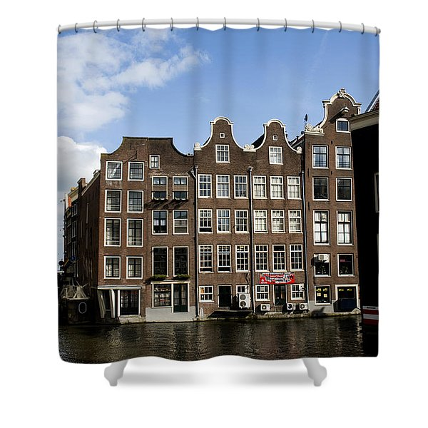 Shower Curtain featuring the photograph Oudezijds Voorburgwal by Fabrizio Troiani