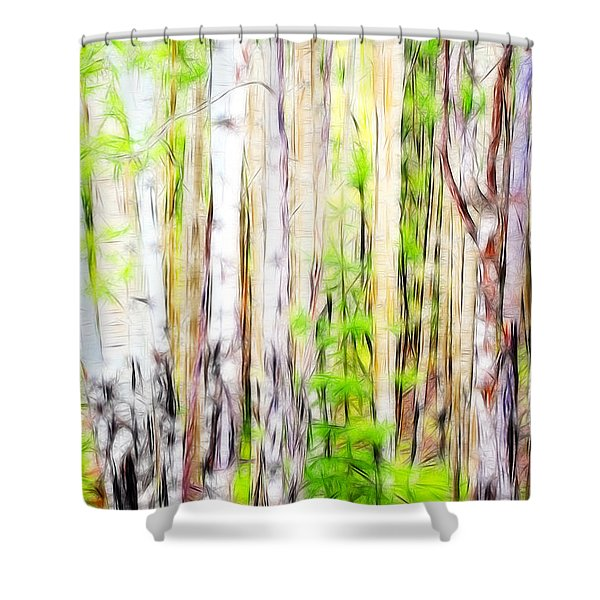 Out Of One Many Fractal Shower Curtain