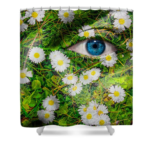 Oxeye Daisy Shower Curtain