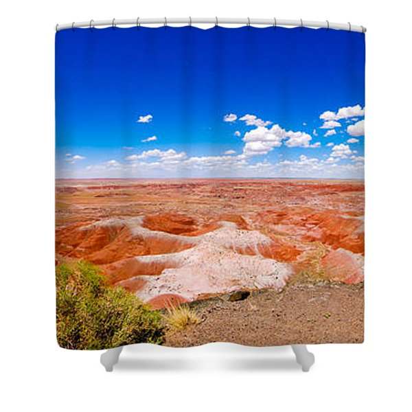 Painted Desert Panorama Shower Curtain