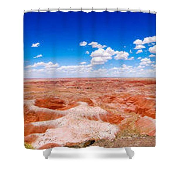 Painted Desert Wide Panorama Shower Curtain