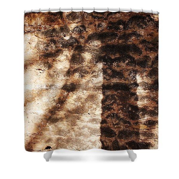 Palm Trunk Shower Curtain