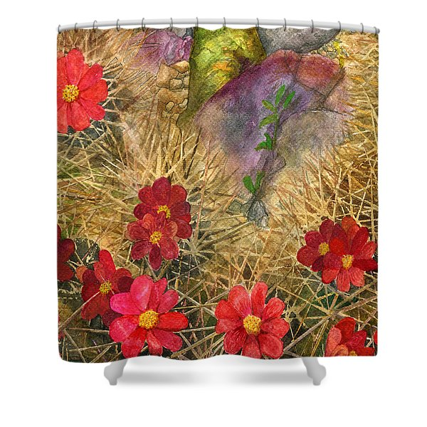 Palo Verde 'mong The Hedgehogs Shower Curtain