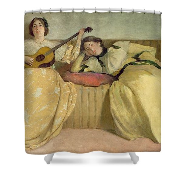 Panel For Music Room Shower Curtain