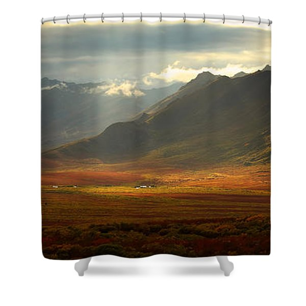 Panoramic Image Of The Cloudy Range Shower Curtain