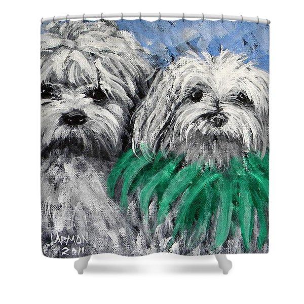 Parade Pups Shower Curtain
