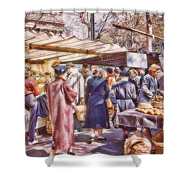 Parisian Market 1954 Shower Curtain