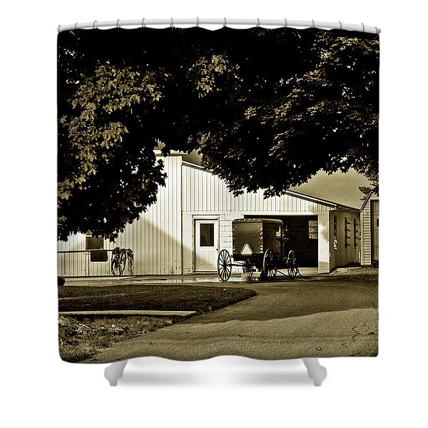 Parked Buggy - Lancaster Pennsylvania Shower Curtain