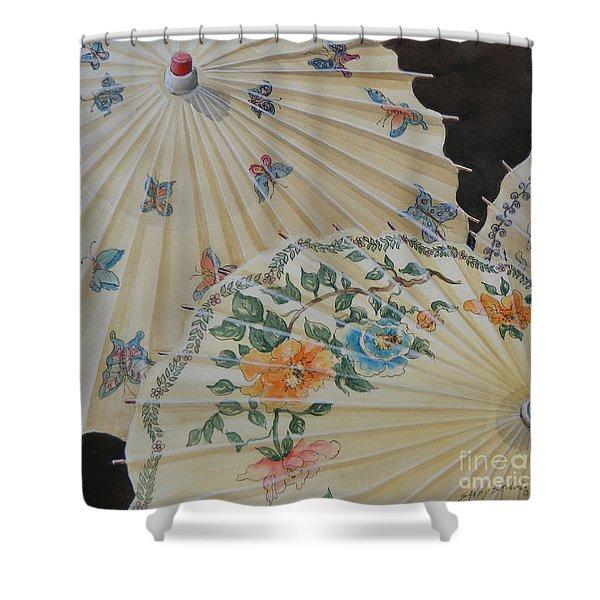 Parosol Parade Sold  Shower Curtain