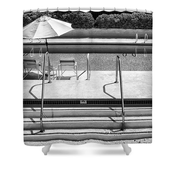 Peaceful Oasis Bw Palm Springs Shower Curtain