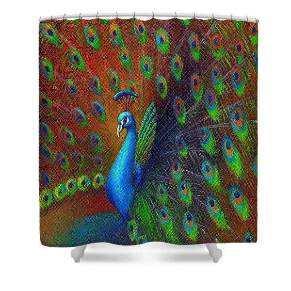 Peacock Spread Shower Curtain