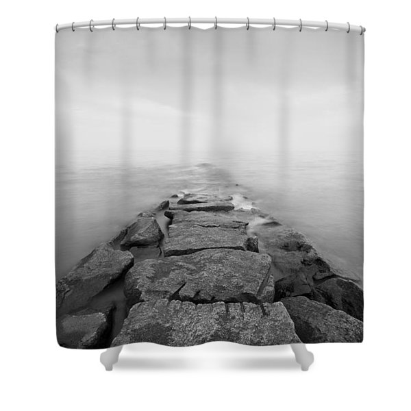 Penfield Jetty In Fairfield Connecticut Shower Curtain