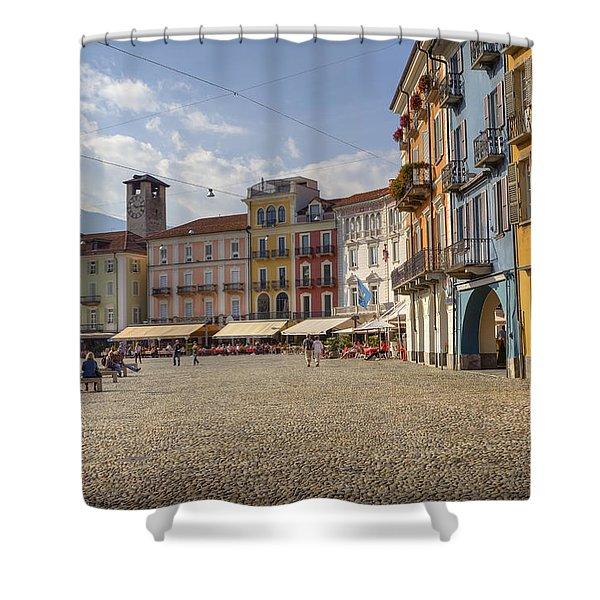Piazza Grande - Locarno Shower Curtain
