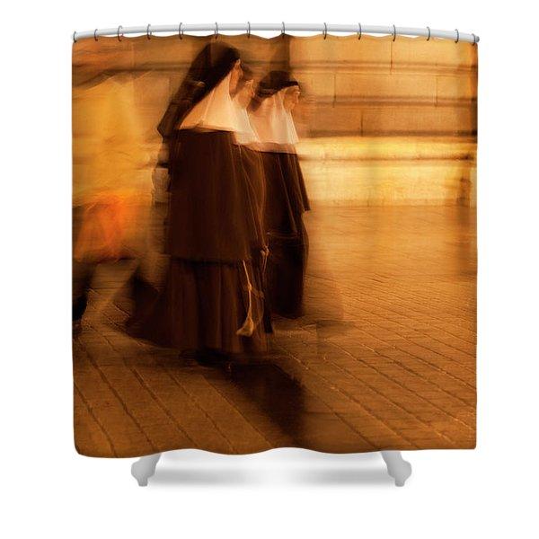 Shower Curtain featuring the photograph Piety In Motion by Lorraine Devon Wilke