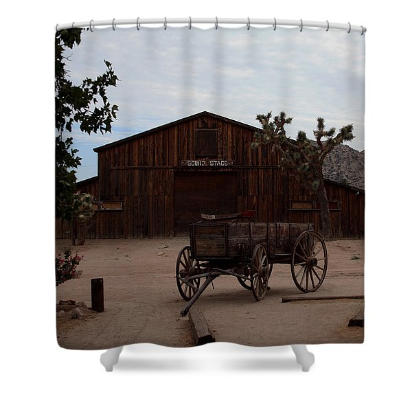 Pioneer Town Shower Curtain