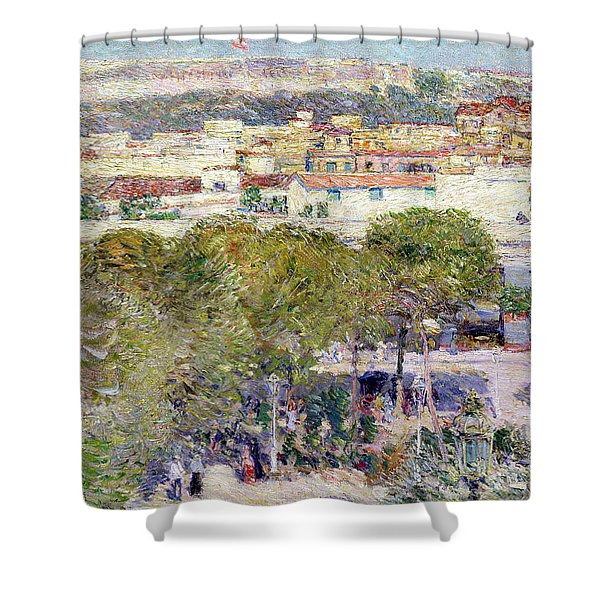 Place Centrale And Fort Cabanas - Havana Shower Curtain