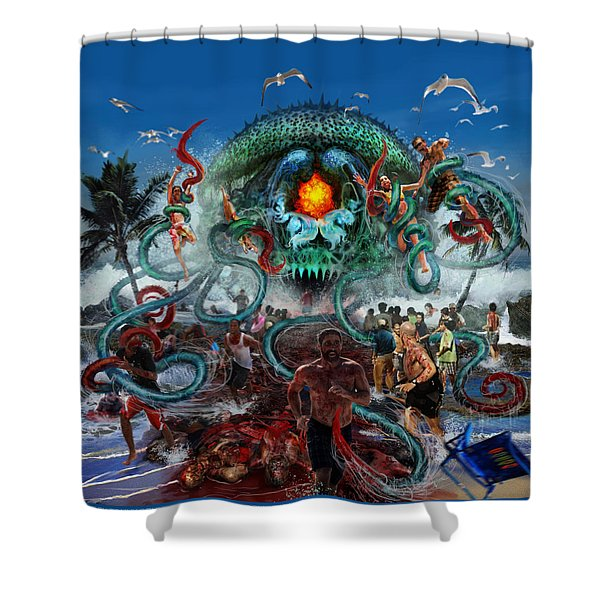 Pollution Shall Thank You Shower Curtain