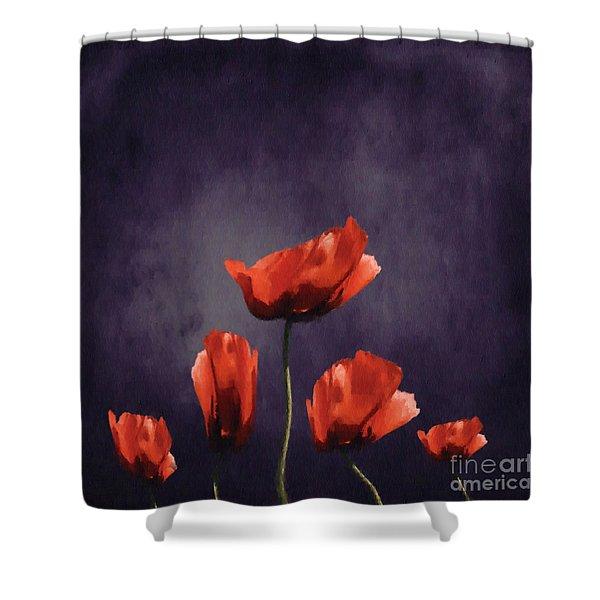 Poppies Fun 03b Shower Curtain