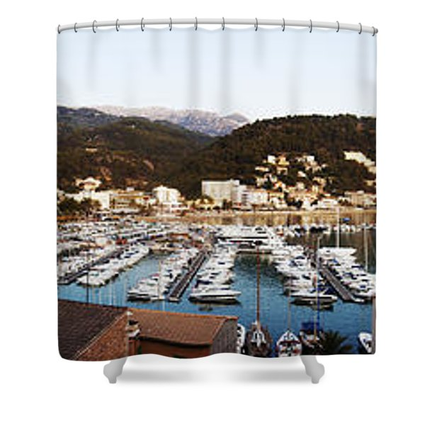 Port Of Soller Shower Curtain