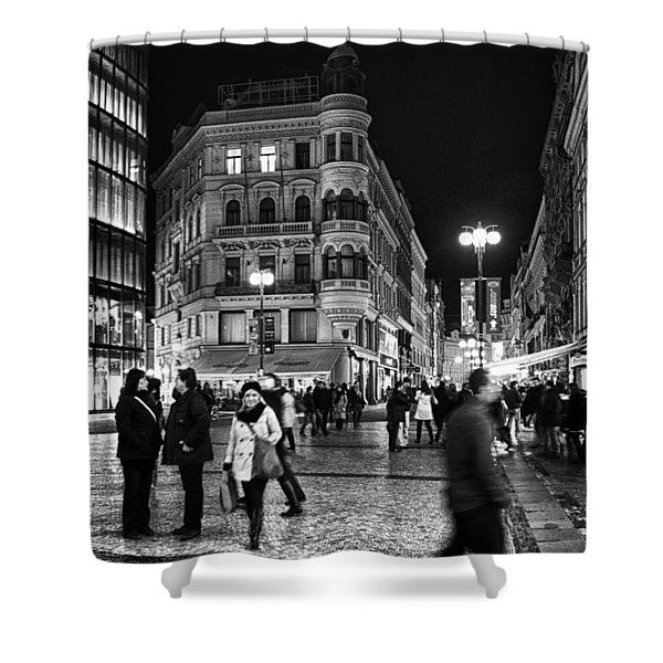 Prague At Night Shower Curtain