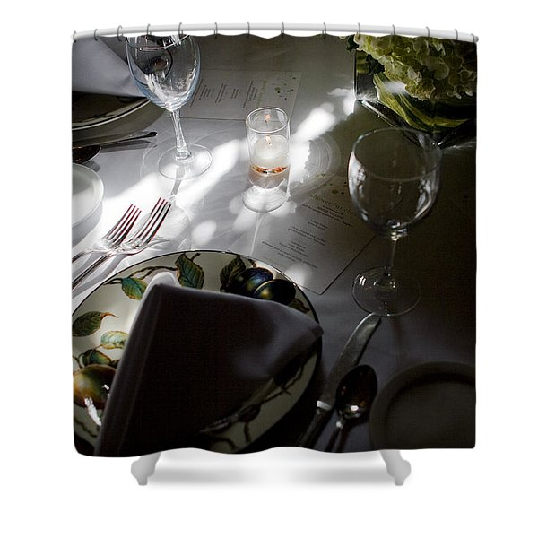 Pretty Place Setting Shower Curtain