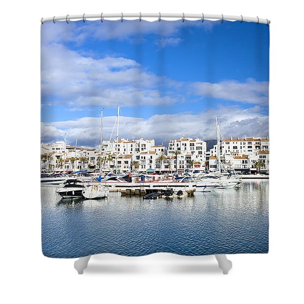 Puerto Banus Marina On Costa Del Sol Shower Curtain