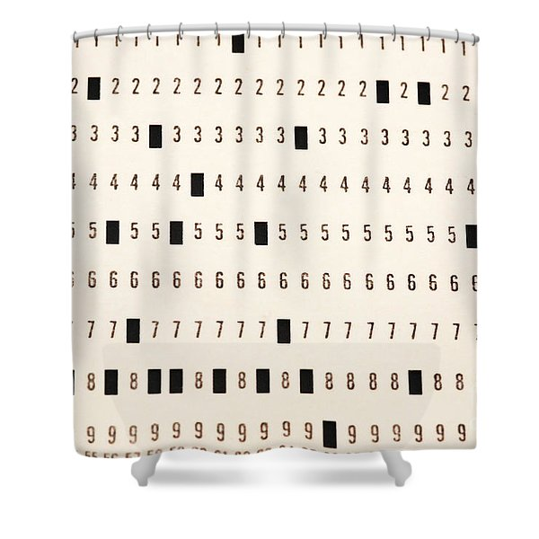 Punch Card Shower Curtain