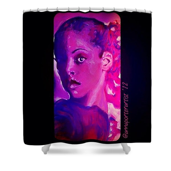 Purple Dancer 2012 Digital Painting By Annaporterartist Shower Curtain