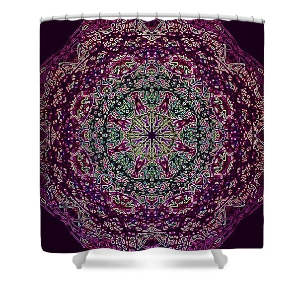 Purple Passion Mandala Shower Curtain