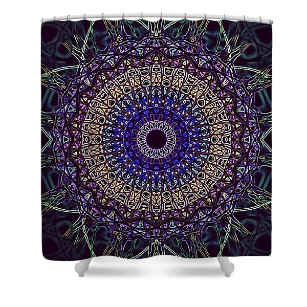 Purple Petal Mandala Shower Curtain