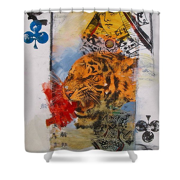 Queen Of Clubs 4-52  2nd Series  Shower Curtain