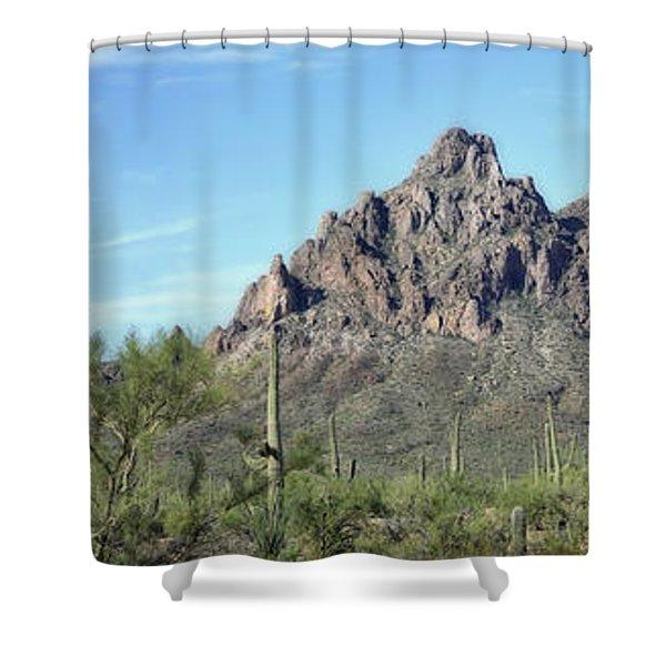 Ragged Top Mountain Panorama Shower Curtain