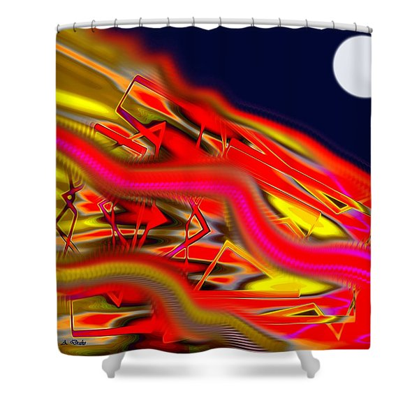 Re-entry Burn Shower Curtain