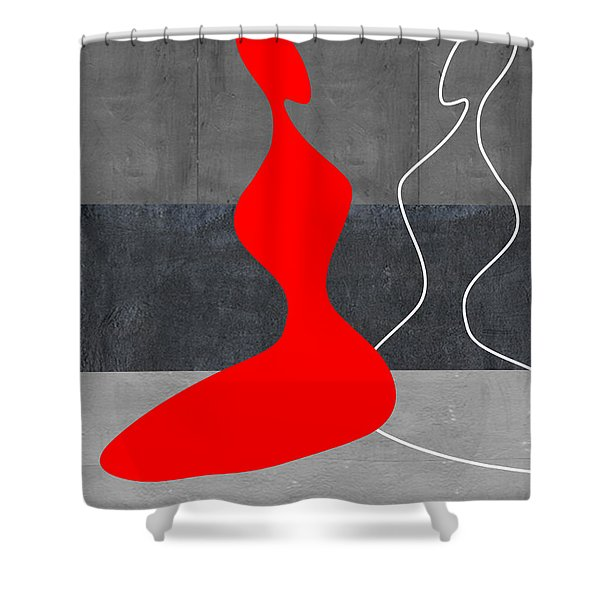 Red Girl Shower Curtain