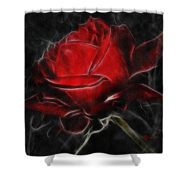 Red And Hot  Shower Curtain