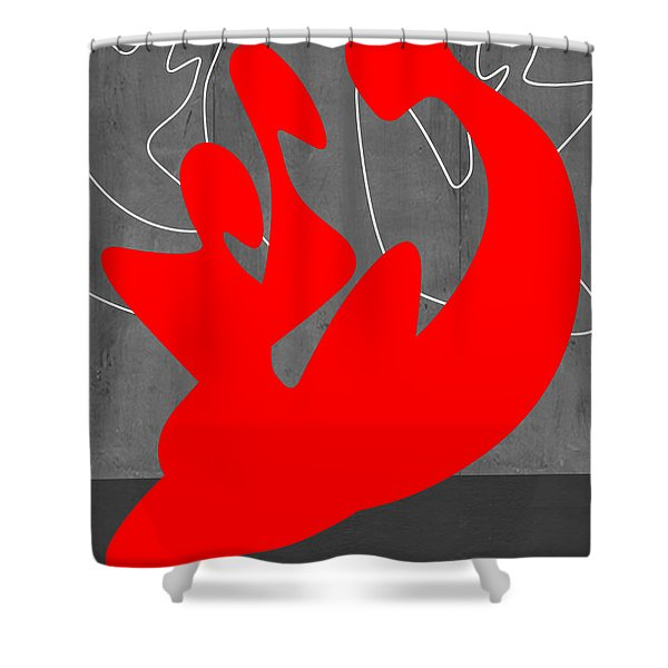 Red People Shower Curtain