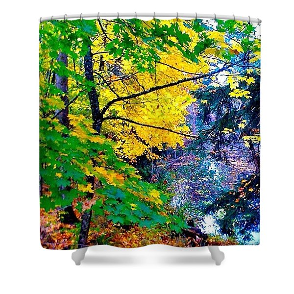 Reed College Canyon Fall Leaves II Shower Curtain