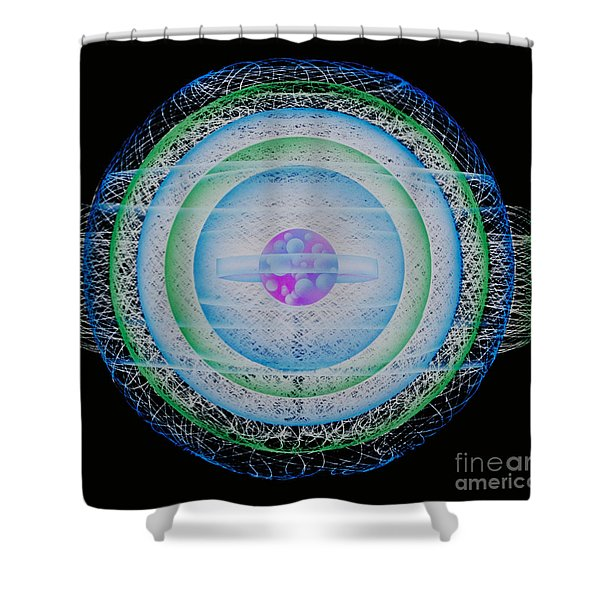 Rendering Of An Atom Shower Curtain