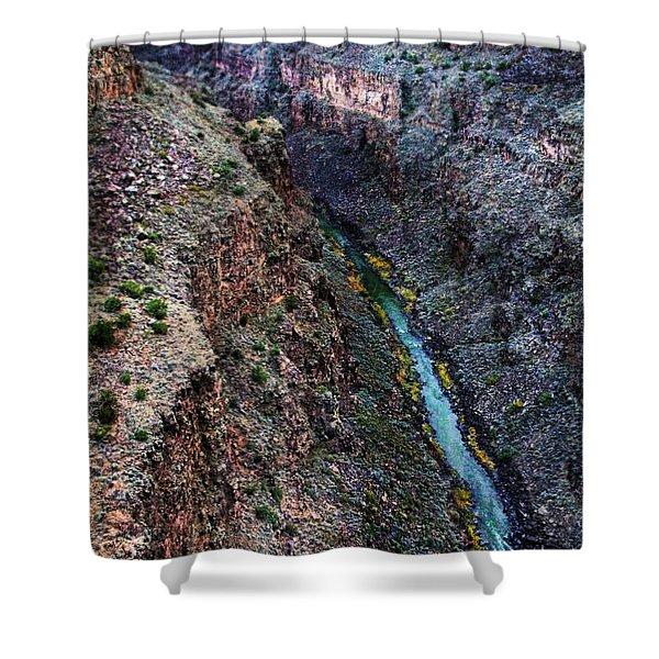 Rio Grande River Gorge Shower Curtain