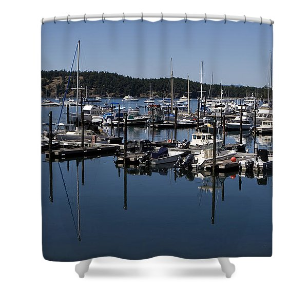 Shower Curtain featuring the photograph Roche Harbor Reflected by Lorraine Devon Wilke