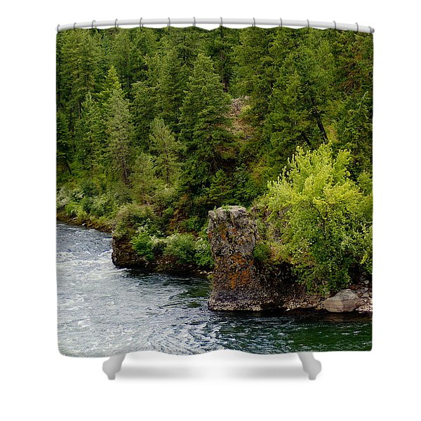 Rockin The Spokane River Shower Curtain