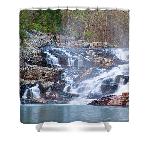 Rocky Falls Shower Curtain