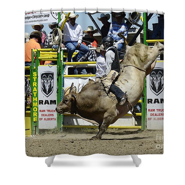 Rodeo Bull Riding Star Shower Curtain