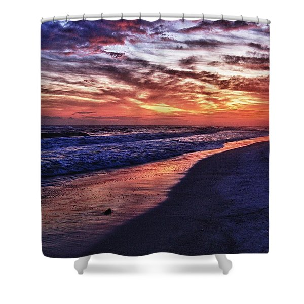 Romar Beach Sunset Shower Curtain