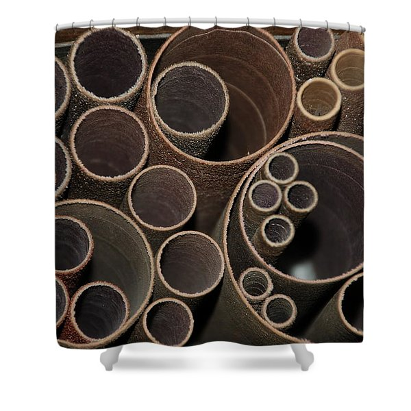 Round Sandpaper Shower Curtain