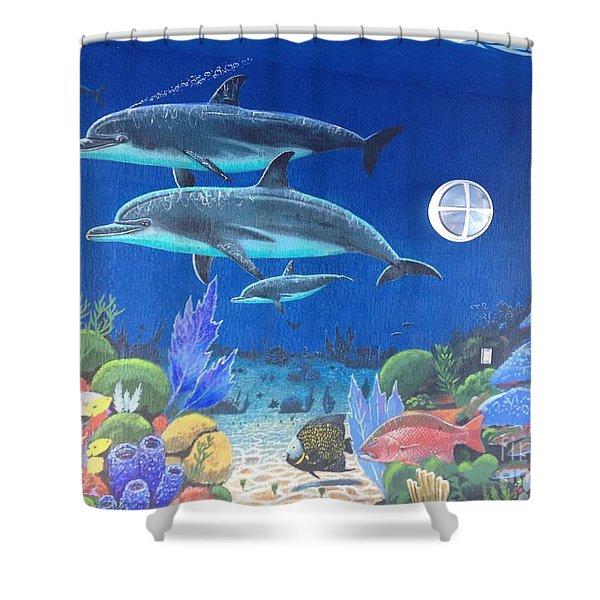 Sailfish Splash Park 2 Shower Curtain