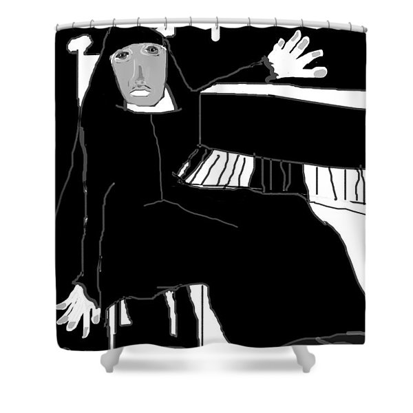Saint Cecelia Shower Curtain