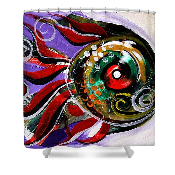 Salvador Dali Octo Fish Shower Curtain